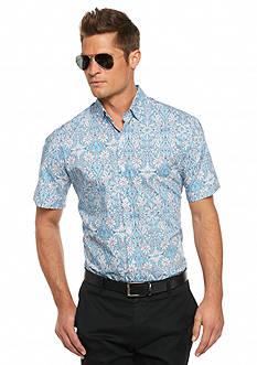 MADE Cam Newton Short Sleeve Floral Woven Shirt