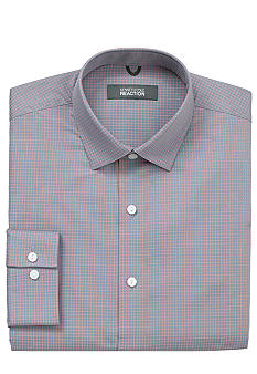 Kenneth Cole Reaction Wrinkle Free Textured Check Dress Shirt