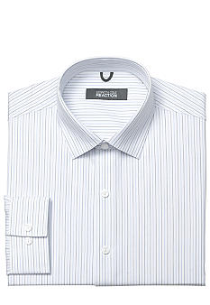 Kenneth Cole Reaction Wrinkle Free Textured Striped Dress Shirt