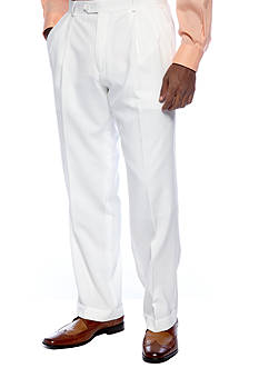 Saddlebred Classic Fit White Suit Separate Pants