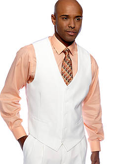 Saddlebred® Classic Fit White Suit Separate Vest