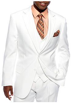 Saddlebred Classic Fit White Suit Separate Coat Belk