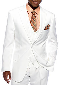 Saddlebred Classic Fit White Suit Separate Coat