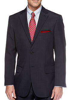 Saddlebred Classic Fit Navy Stria Suit Separate Coat