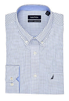 Nautica Classic Fit Check Ocean Washed Dress Shirt