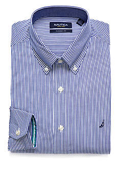 Nautica Classic Fit Engineered Stripe Dress Shirt