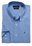 Nautica Ocean Wash Striped Dress Shirt