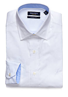 Nautica Classic Fit Solid Poplin Kelson Spread Collar Dress Shirt