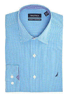 Nautica Classic Fit Gingham Ocean Washed Dress Shirt