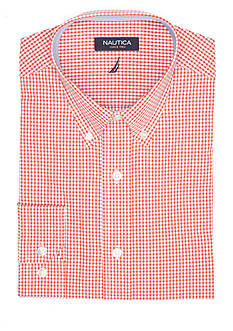 Nautica Classic-Fit Gingham Dress Shirt
