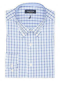 Nautica Classic-Fit Check Dress Shirt