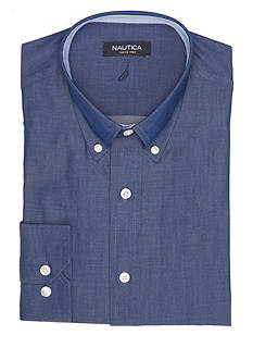 Nautica Classic-Fit Solid Dress Shirt