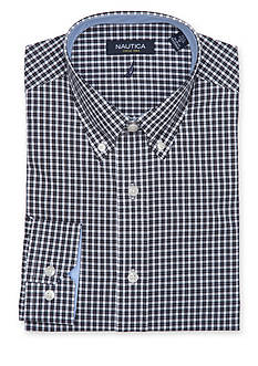 Nautica Classic-Fit Check Button Down Dress Shirt