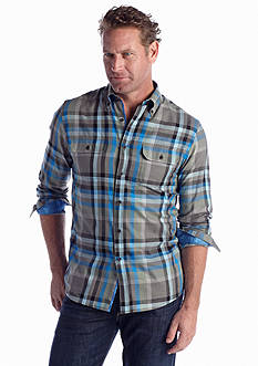 Ocean & Coast® Long Sleeve Plaid Woven Shirt