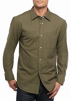 Ocean & Coast Sherpa Lined Herringbone Shirt Jacket