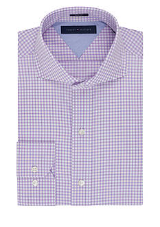 Tommy Hilfiger Slim Fit Easy Care Gingham Dress Shirt