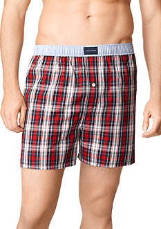 Tommy Hilfiger Plaid Woven Boxers