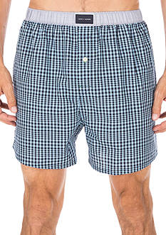 Tommy Hilfiger Blue Check Woven Boxers