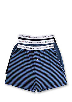 Tommy Hilfiger Solid and Stripe Knit Boxers - 3 Pack