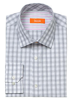 Tallia Orange Slim Fit Check Dress Shirt