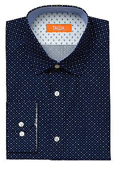 Tallia Orange Slim Fit Polka Dot Dress Shirt