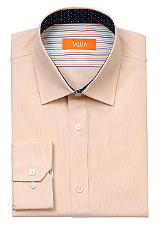 Tallia Orange Slim Fit Stripe Dress Shirt