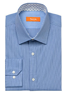 Tallia Orange Stream Stripe Dress Shirt