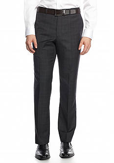 Tommy Hilfiger Men's Flat-Front Windowpane Pants