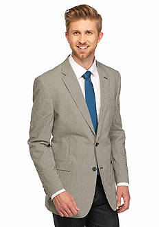 Tommy Hilfiger Classic-Fit Black and White Gingham Sport Coat