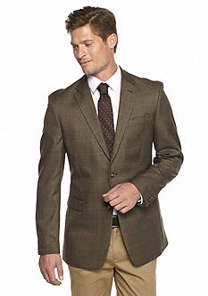 Tommy Hilfiger Brown Plaid Sport Coat