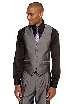 Steve Harvey Classic Fit Pinstripe Suit Separate Vest
