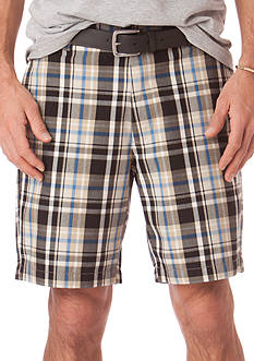 Chaps Garment Washed Plaid Short
