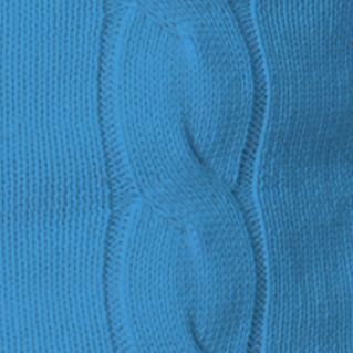 Chaps: Bell Blue Chaps NOV OAKVILLE CABLE BUTTON MOCK-BELLBLUE