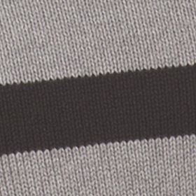 Mens Crew Neck Sweaters: Steel Heather Chaps OCT LTO CREWNECK STRIPE 5 GG-POTTERY