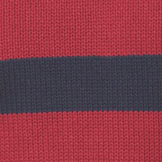 Mens Crew Neck Sweaters: Chaps Red Chaps OCT LTO CREWNECK STRIPE 5 GG-POTTERY