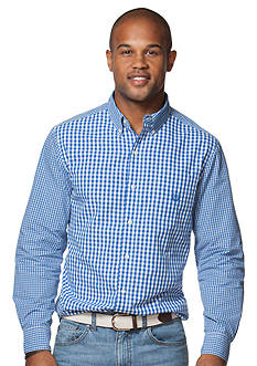 Chaps Multi-Checked Poplin Shirt