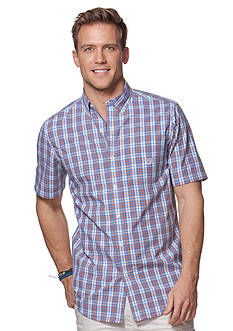 Chaps Short-Sleeve Plaid Poplin Shirt