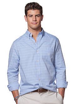Chaps Long Sleeve Herringbone Shirt