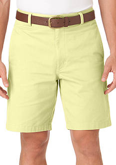 Chaps Flat-Front Twill Shorts