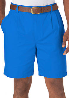 Chaps MAR TWILL PLEAT SHORT-COLBY BLUE