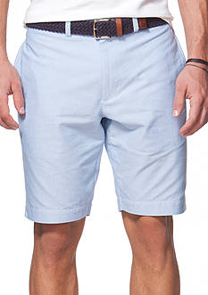 Chaps Flat-Front Oxford Shorts