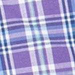 Men: Chaps Casual Shirts: Ashley Purple Chaps Short-Sleeve Plaid Shirt