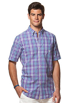 Chaps Short-Sleeve Plaid Shirt