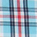 Men: Chaps Casual Shirts: French Turqoise Chaps Short-Sleeve Plaid Shirt