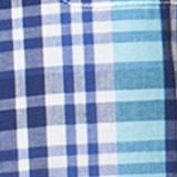 Men: Chaps Casual Shirts: French Turquosie Chaps Short-Sleeve Plaid Shirt