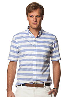 Chaps Short-Sleeve Striped Shirt
