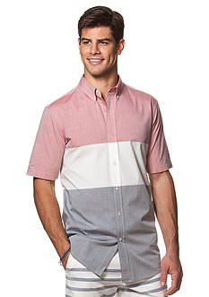 Chaps Short-Sleeve Color-Blocked Shirt