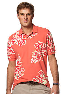 Chaps Floral Polo Shirt
