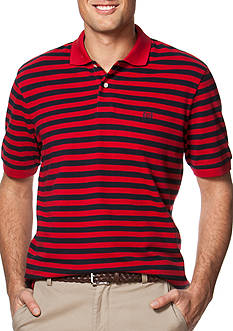 Chaps Striped Pique Polo Shirt