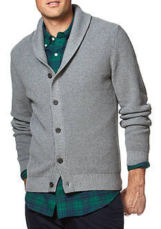Chaps Combed Cotton Shawl Cardigan